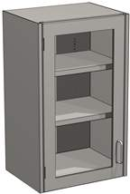 Mott Manufacturing Steel Casework Wall Cabinet Hinged Framed Door Unit